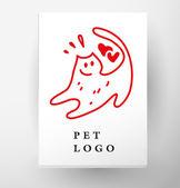 Vector flat pet logo