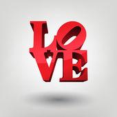 Vector illustration of love
