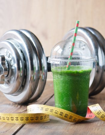 Photo for Green smoothie to go - Royalty Free Image