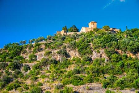 Beautiful view of a small mountain village Deia in Mallorca, Spa