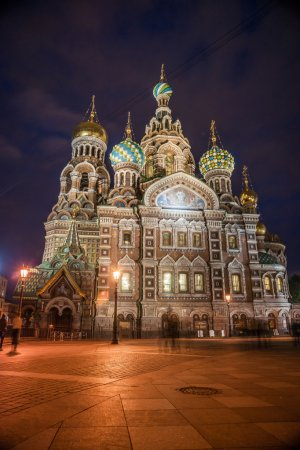 Church on Spilled Blood in Saint Petersburg, Russia.