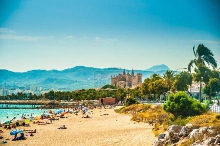 View of the beach of Palma de Mallorca