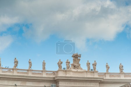 Architectural detail of colonnade in Vatican - Rome, Italy