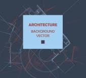 Kresba abstraktní architektonické detaily na rovném povrchu