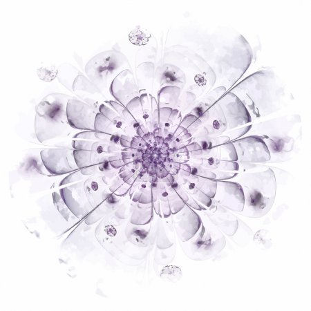 Illustration for Stylized flower. Computer generated pattern. Useful as background or design element for images devoted to subjects of nature, beauty, cosmetics, etc - Royalty Free Image