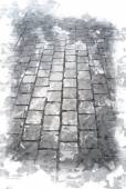 Old cobbled road