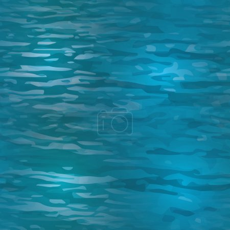 Illustration for Vector realistic water texture. Seamless pattern to use as a background for websites or other media. Seamless tile to make endless water surface texture - Royalty Free Image