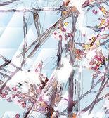 """Постер, картина, фотообои """"Абстрактная живопись цветок"""""""