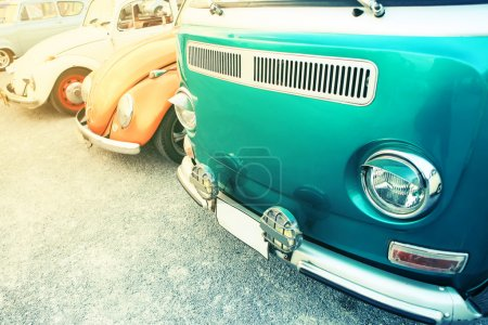 Classic car in vintage color filtered.