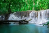 waterfall and green forest Resting Place and relax time