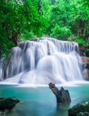 beautiful waterfall and green forest Resting Place and relax time