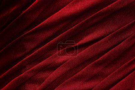 Bright red  fabric folded background