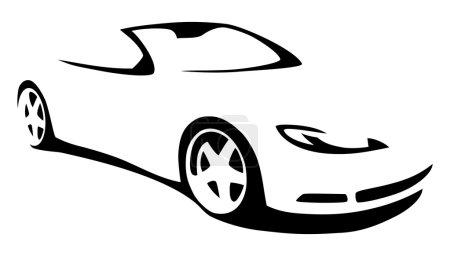 Vector silhouette car