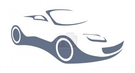 Auto silhouette logo