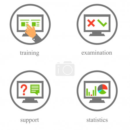 Illustration for Solid fill vector icons in light style - Royalty Free Image
