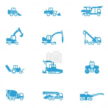 Icons for different types of special vehicles, part 4