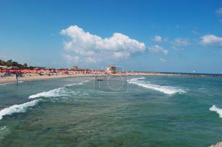 Tel Aviv, Israel: view of Mediterranean Sea and Metzitzim Beach