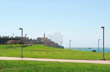 Israel: the Old City of Jaffa seen from Tayelet, the Tel Aviv Promenade