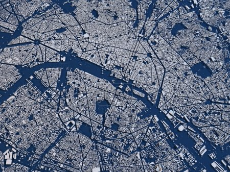 Map of Paris, France