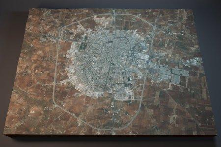 Idlib, satellite view