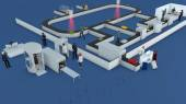 3d Airport check-in, baggage path, terminal