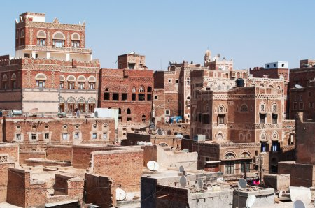 The Old City of Sana'a, decorated houses and palaces, Yemen