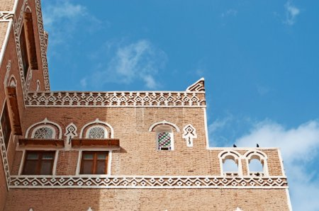 The Old City of Sana'a, decorated house, Yemen