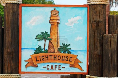 Bar, coffe, sign, Cape Florida Lighthouse, Bill Baggs Cape Florida State Park, protected area, Key Biscayne, Miami, Miami Beach