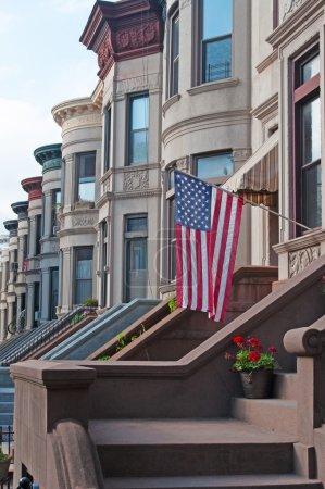 Brownstone row houses, New York