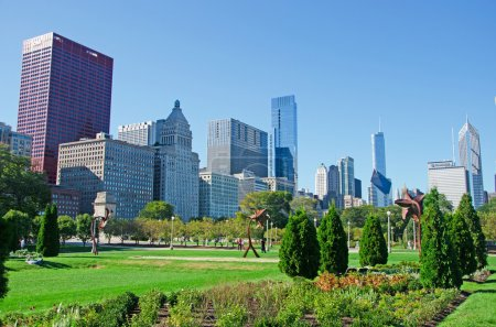 Chicago Illinois panoramic view of