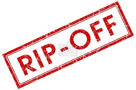 Photo pour Arnaque de la place rouge timbre isolé sur fond blanc - image libre de droit
