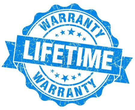 Photo pour Garantie à vie joint gris bleu isolé sur blanc - image libre de droit