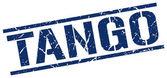 Tango blue grunge square vintage rubber stamp