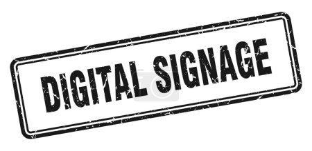 Photo pour Timbre de signalisation numérique. signe grunge carré isolé sur fond blanc - image libre de droit