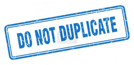 Photo pour Ne pas dupliquer le timbre. signe grunge carré isolé sur fond blanc - image libre de droit