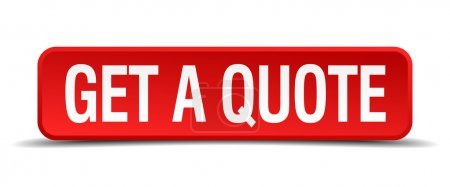 get a quote red 3d square button on white background