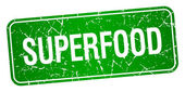 Superfood Zelený čtvereček grunge texturou izolované razítko