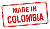 made in Colombia red square isolated stamp