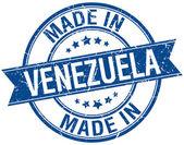 made in Venezuela blue round vintage stamp