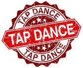 TAP dance červené kulaté grunge razítko na bílém pozadí