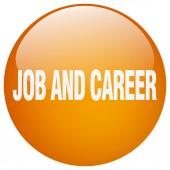 Práce a kariéra oranžové kolo gelu izolované tlačítko