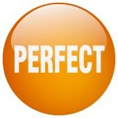 Dokonalé oranžové kolo gelu, samostatný tlačítko