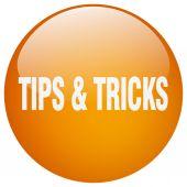 Tipy  triky oranžové kulaté tlačítko gelu, samostatný