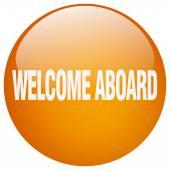 Vítejte na palubě oranžové kulaté tlačítko gelu, samostatný