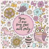 cartoon romantic card