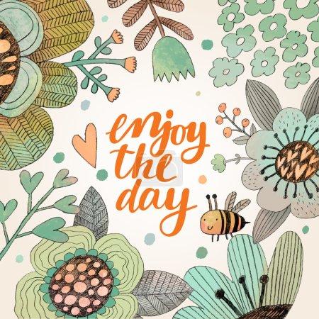 cartoon Enjoy day card