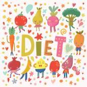 vegan diet concept card