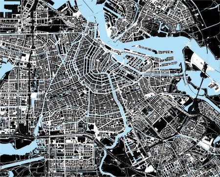 Photo for Black and white amsterdam city map - Royalty Free Image