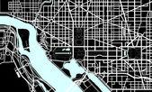 Washington DC black and white map
