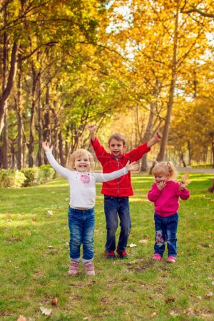 kids playing  in the park